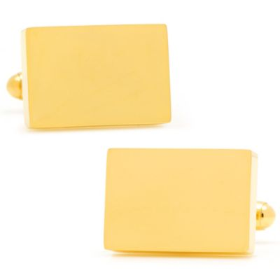 Gold-Plated Blocks Cufflinks