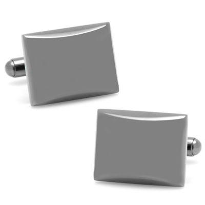 Gunmetal Rectangular Domed Cufflinks