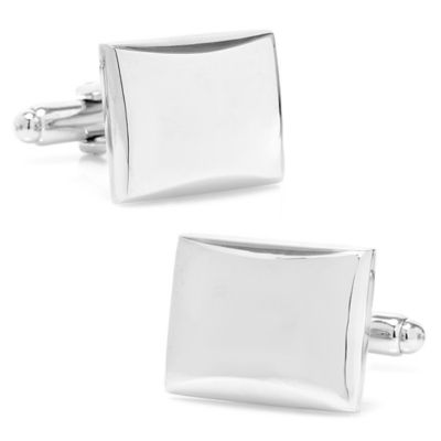 Stainless Steel Rectangular Cushion Cufflinks