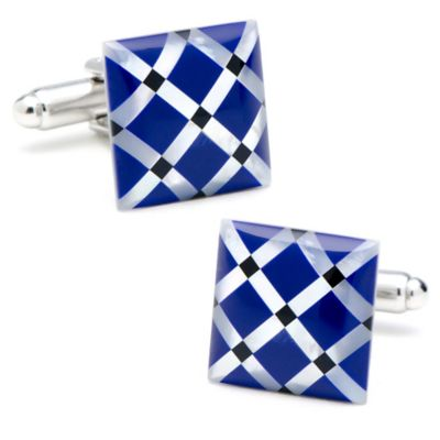 Blue Square Cufflinks