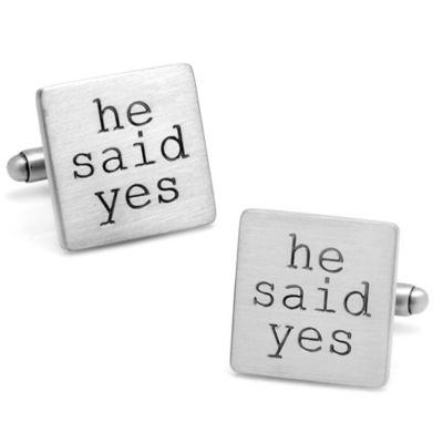 Wedding Series She Said Yes Cufflinks