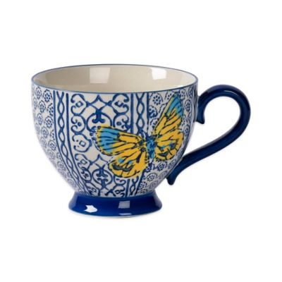 Tabletops Unlimited® Gallery Sheridan Footed Mug in Blue
