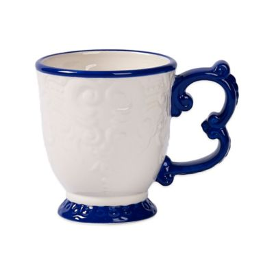 Tabletops Unlimited® Gallery Sheridan Baroque Footed Mug in Blue