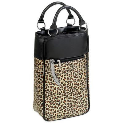2-Bottle Wine Tote in Leopard