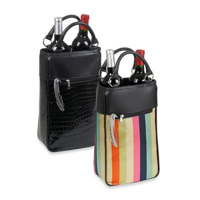 2-Bottle Wine Tote in Stripes