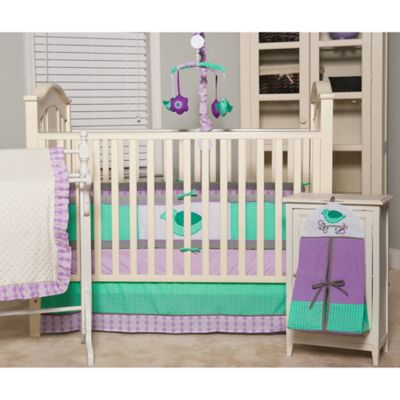 Pam Grace Creations Lola Lavender 6-Piece Crib Bedding Set