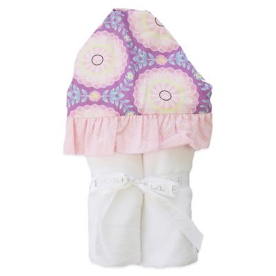 Caden Lane® Purple Garden Hooded Towel