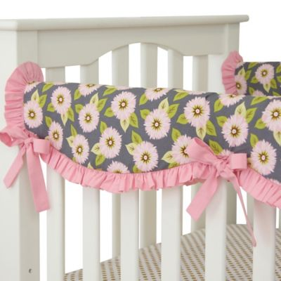 Caden Lane® Pink Dahlia Crib Rail Cover