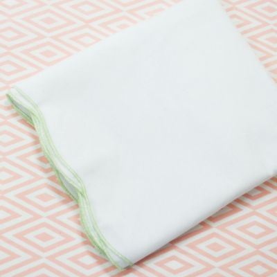Oliver B 2-Piece Scallop Crib Bedding Set in Mint/Pink