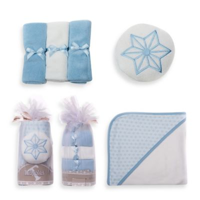 Tadpoles 5-Piece Hooded Towel Gift Set in Blue