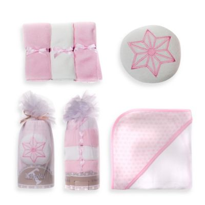 Tadpoles 5-Piece Hooded Towel Gift Set in Pink
