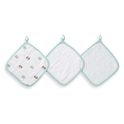 aden® by aden + anais® 3-Pack Washcloths in Goodnight Owl