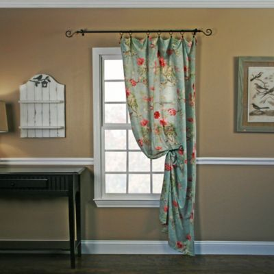 Balmoral 84-Inch Window Curtain Panel in Red