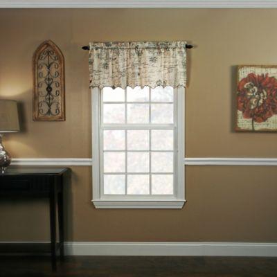 Script 15-Inch Window Valance