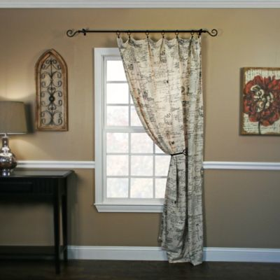 Script 63-Inch Window Curtain Panel