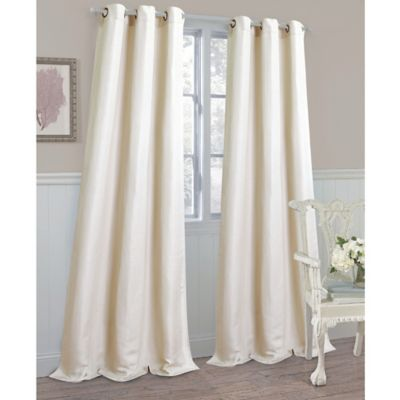 Laura Ashley® Berkley 84-Inch Window Panels in Linen