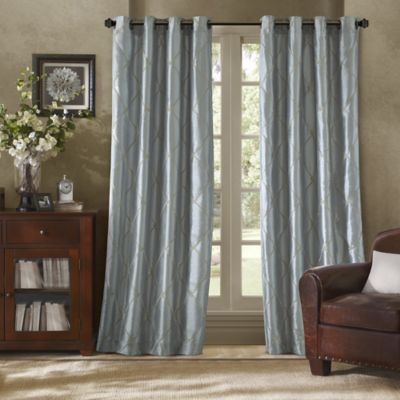 Bombay™ Garrison 63-Inch Grommet Window Curtain Panel in Blue
