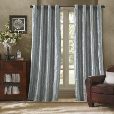 Bombay™ Garrison 84-Inch Grommet Window Curtain Panel in Blue