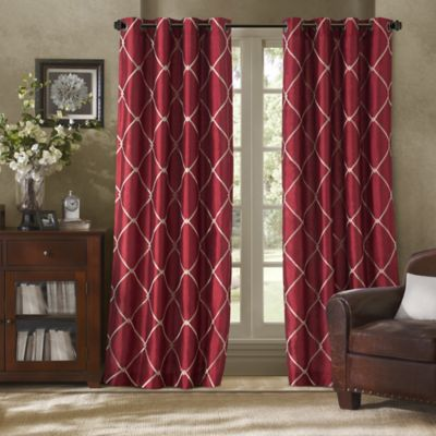 Bombay™ Garrison 63-Inch Grommet Window Curtain Panel in Burgundy