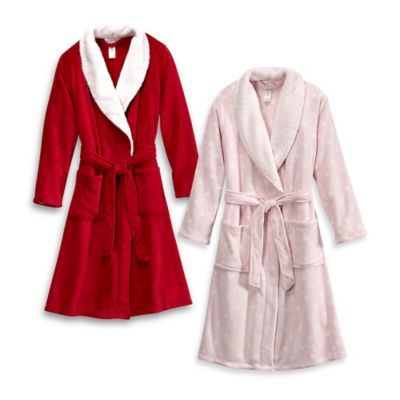 Ultra Plush Size Small/Medium Dream Bathrobe in Red