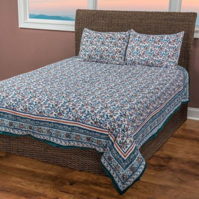 Priscilla 3-Piece Reversible Queen Quilt Set