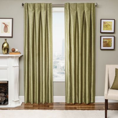Designers' Select Maximus Inverted Pleat 63-Inch Window Curtain Panel in Green