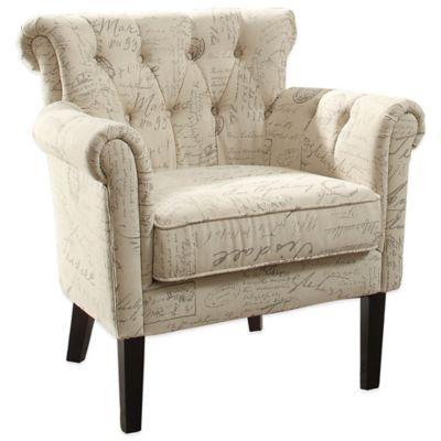 Verona Home Lanna Chair in French Text