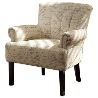 Verona Home Kristy Arm Chair in French Text