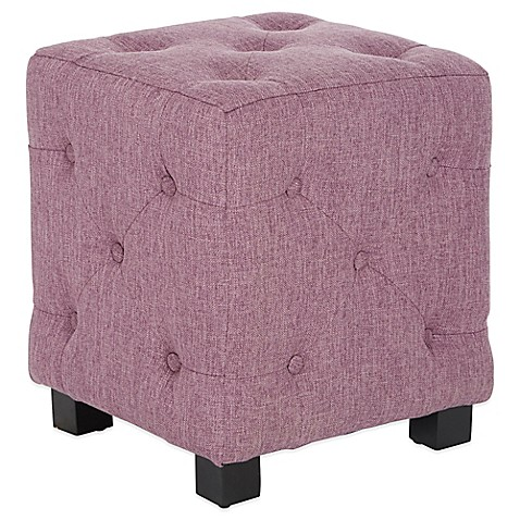 Angelo Home Duncan Small Tufted Cube Ottoman Bed Bath