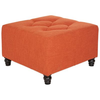 angelo:HOME Diamond Ottoman in Oat Tan Linen