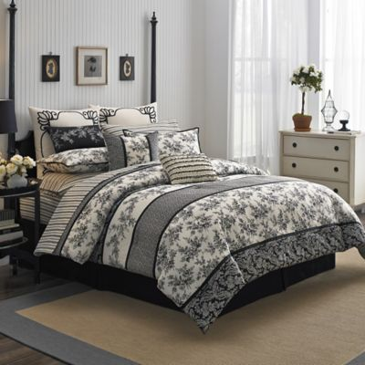Laura Ashley® Cassandra California King Comforter Set