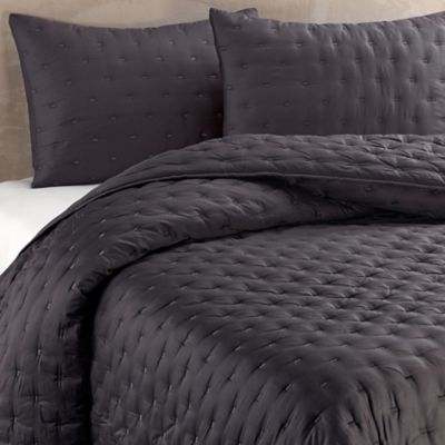 Vera Wang™ Luster Standard Pillow Sham in Charcoal
