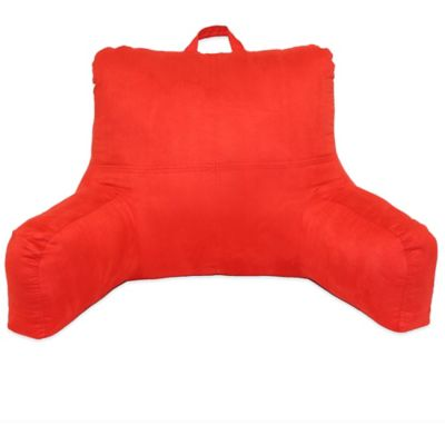 Faux Suede Backrest in Red