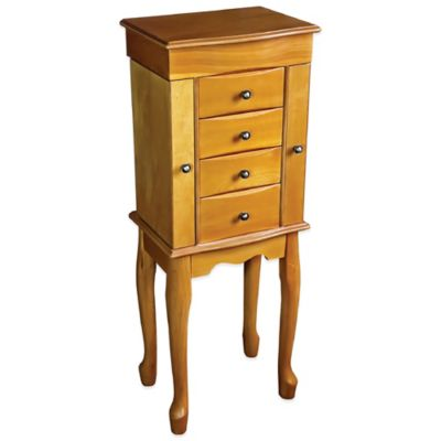 Mele & Co. Celina Wooden Jewelry Armoire in Oak
