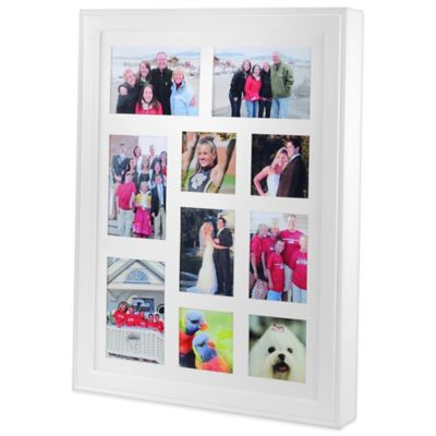 Wall Mounted Photo Jewelry Box in White