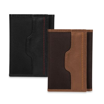 Travelon® Safe ID Accent Trifold Wallet in Black