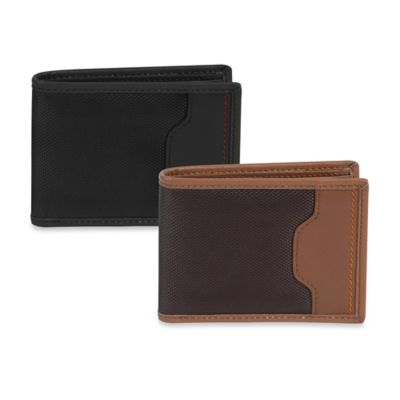 Safe ID Accent Billfold Wallet in Saddle