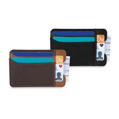 Travelon® Safe ID Accent Money Clip Wallet in Saddle