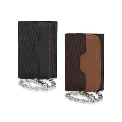 Travelon® Safe ID Accent Wallet with Chain in Saddle