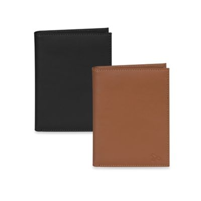 Travelon® Safe ID Accent Leather Passport Wallet in Black