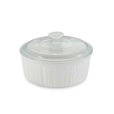 French White® 2 1/2-Quart Covered Round Dish