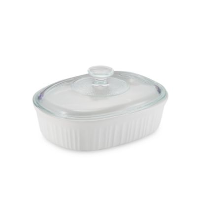 French White® 1 1/2-Quart Covered Oval Dish