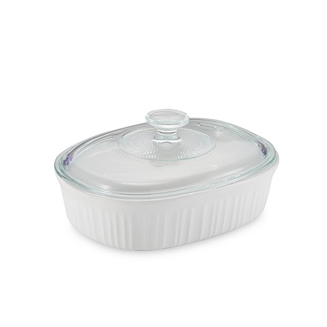 French White® 1-1/2-Quart Covered Oval Dish