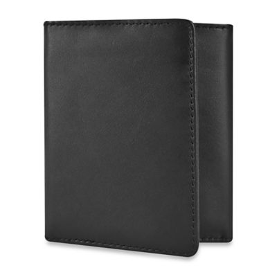 Travelon® Safe ID Leather Trifold Wallet in Black