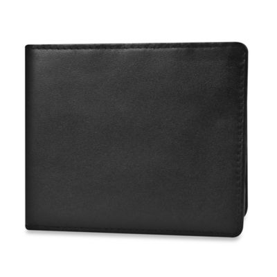Travelon® Safe ID Leather Billfold Wallet in Black