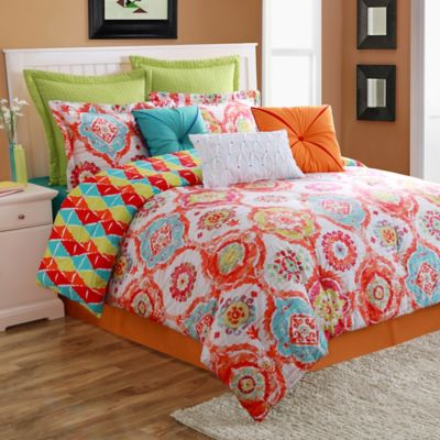Fiesta® Ava Reversible Twin Comforter Set