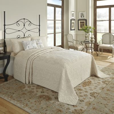Nostalgia Home™ Valinda Reversible Queen Bedspread in Sand