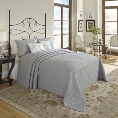 Nostalgia Home™ Valinda Reversible Queen Bedspread in Grey