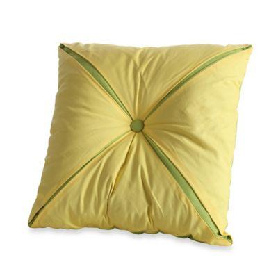 Fiesta® Estela Reversible Button 18-Inch Square Throw Pillow