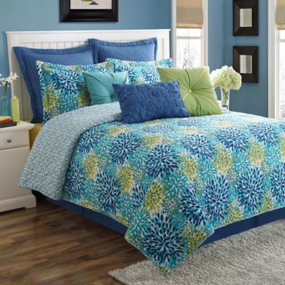 Fiesta® Calypso Reversible Queen Comforter Set